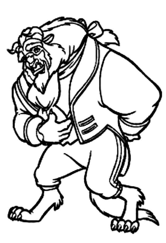 beast coloring page - beauty and the beast coloring pages