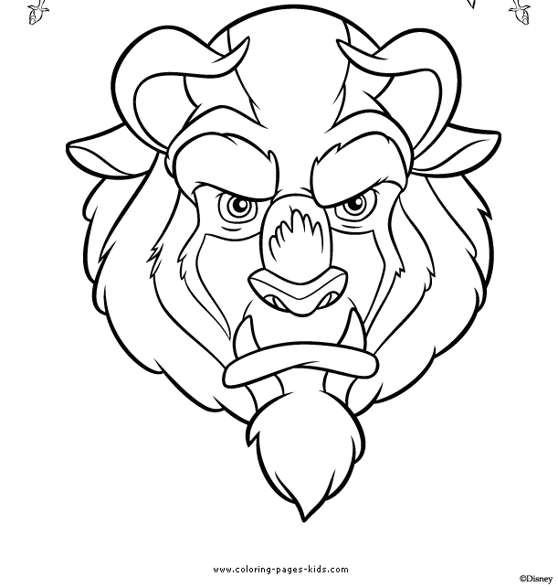 beast coloring page - beauty beast coloring page 07