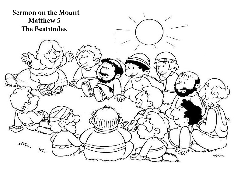 beatitudes coloring pages -
