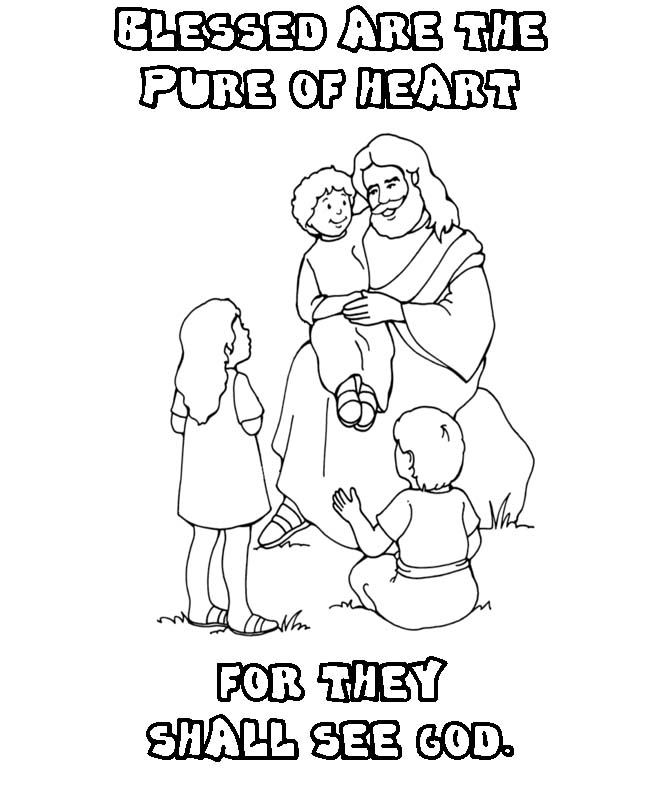 Beatitudes Coloring Pages - Beatitudes for Kids