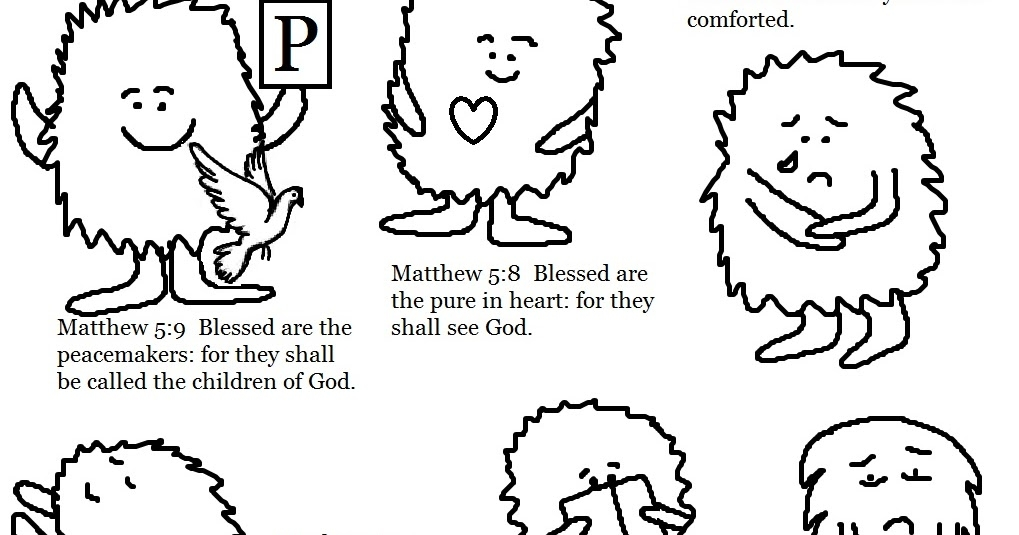 25 Beatitudes Coloring Pages Compilation | FREE COLORING