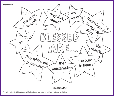 beatitudes coloring pages - beatitudes blessed