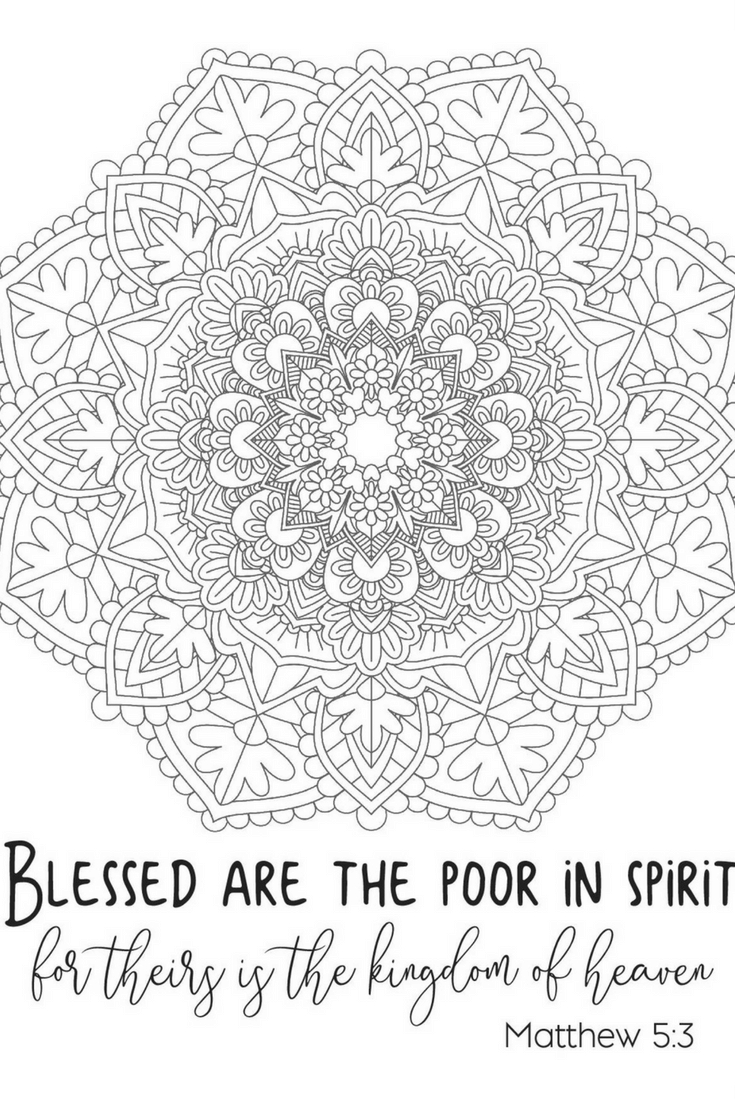 beatitudes coloring pages - free printable beatitude coloring page adults