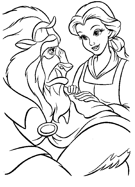 beauty and beast coloring pages - schone und das biest
