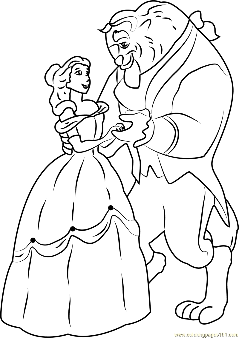 beauty and the beast coloring pages - beauty and the beast