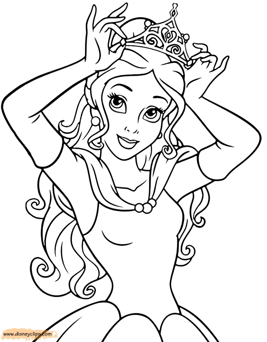 beauty and the beast coloring pages - beautyandthebeastcoloring3