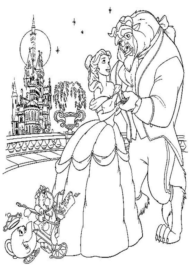 beauty and the beast coloring pages - Coloring Disney Characters