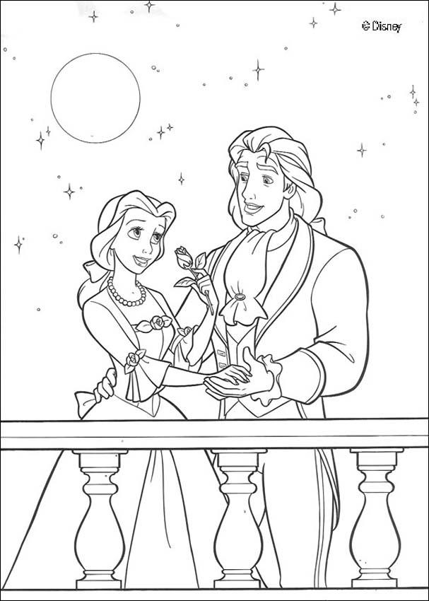 beauty and the beast coloring pages - beauty and beast coloring pages
