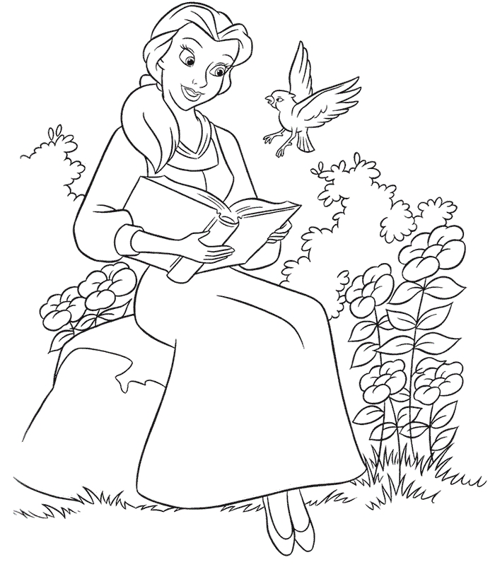 beauty and the beast coloring pages - beauty and the beast coloring pages