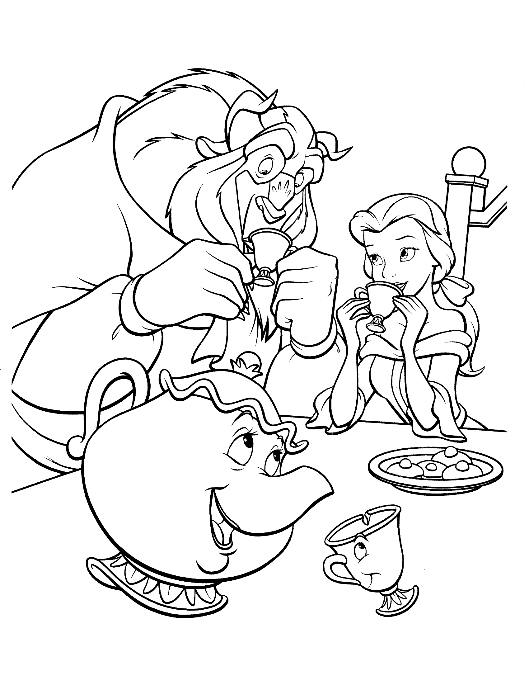 beauty and the beast coloring pages - tale as old as time