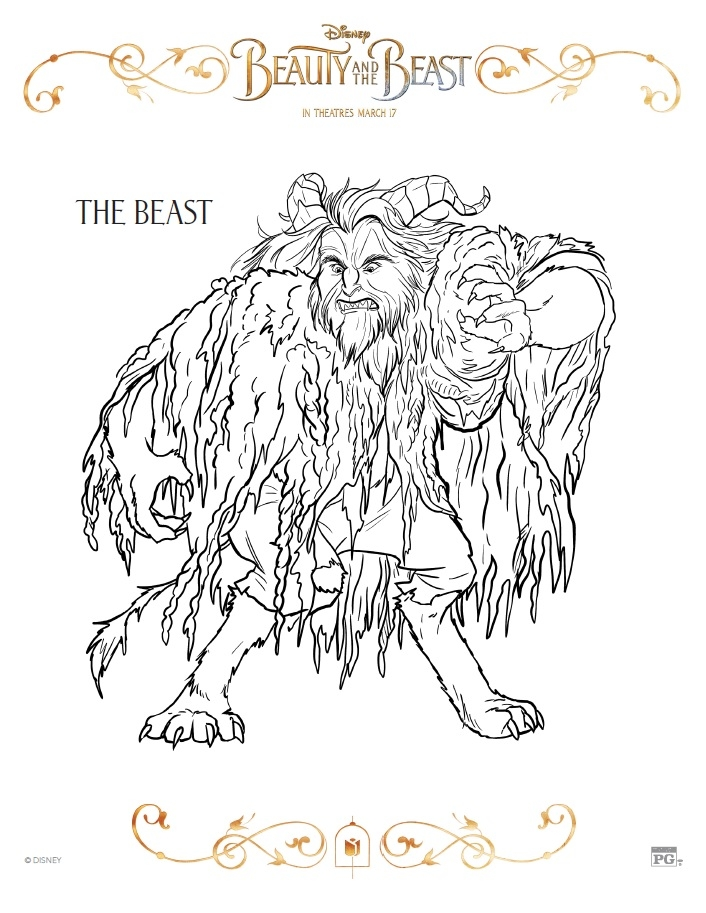beauty and the beast coloring pages free - beauty and the beast coloring pages