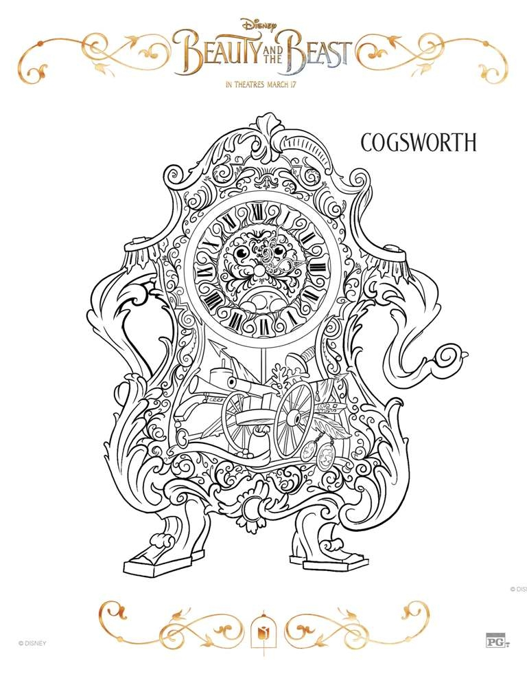 beauty and the beast coloring pages free - beauty beast coloring pages