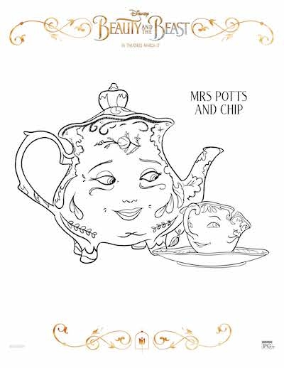 beauty and the beast coloring pages free - more free beauty and the beast coloring sheets