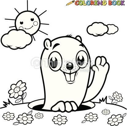 beaver coloring page -