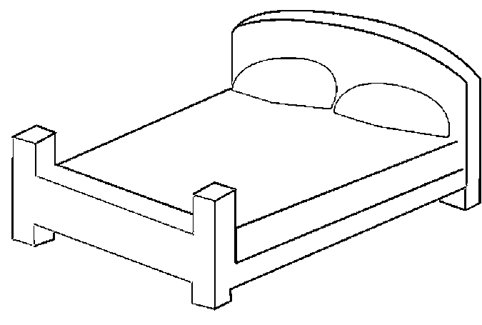 bed coloring page image4 - Bed Coloring Pages