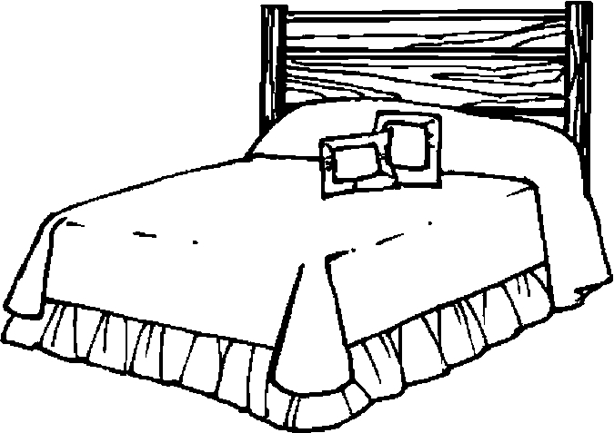 bed coloring page - bed 30