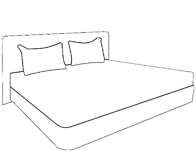 bed coloring page - 6
