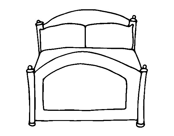 bed coloring page - 0
