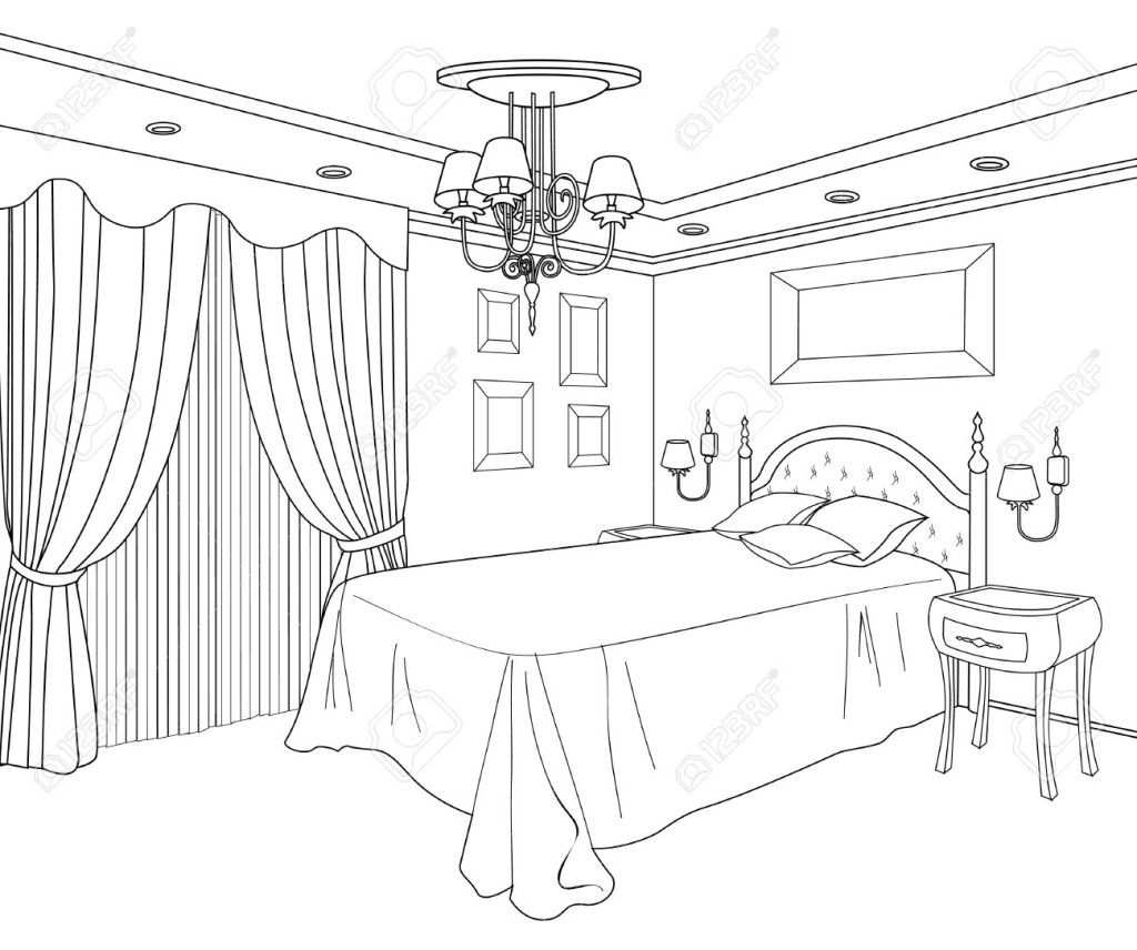28 Bed Coloring Page Collections | FREE COLORING PAGES - Part 3
