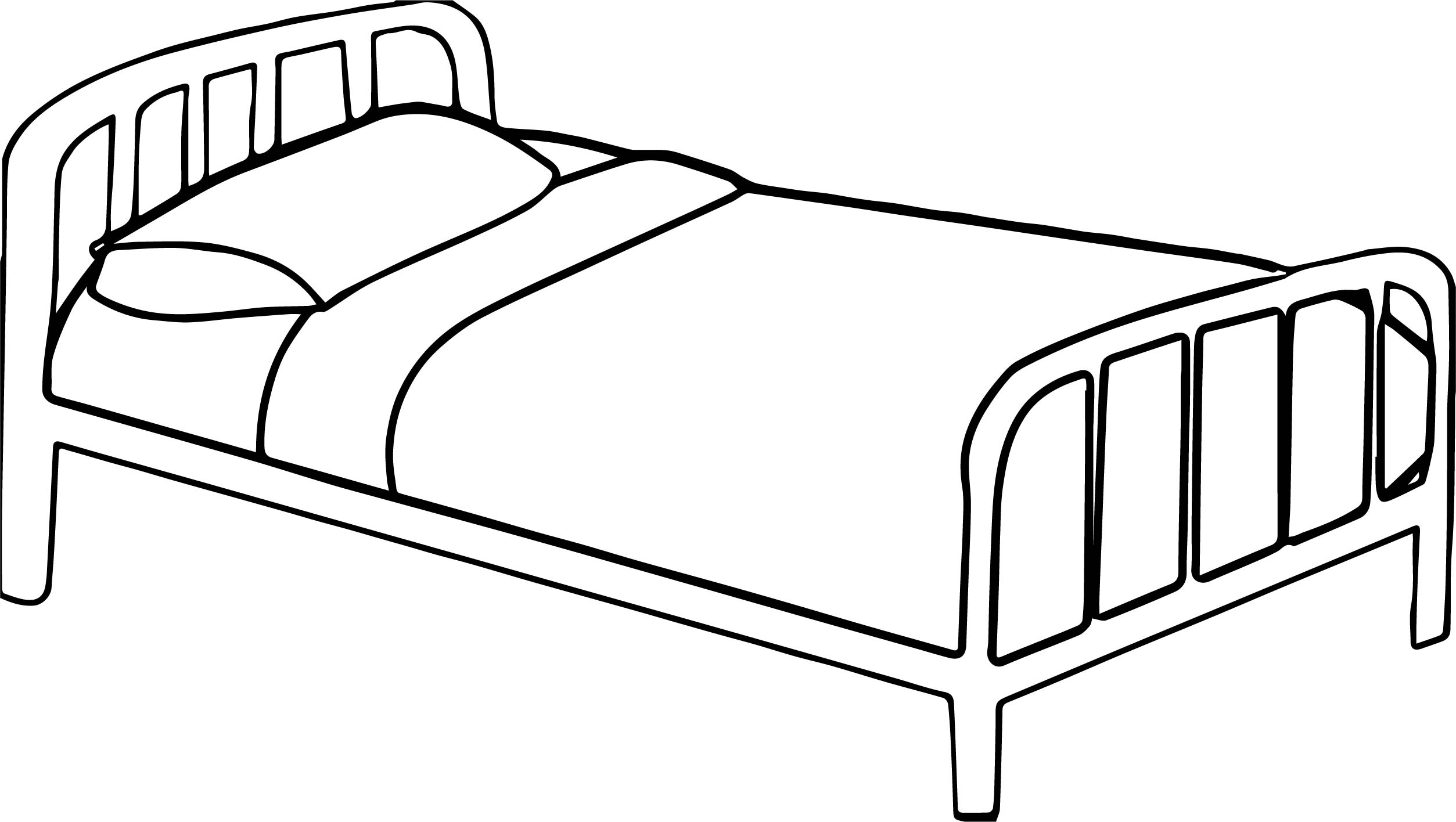 bed coloring page - bunk beds sketch templates