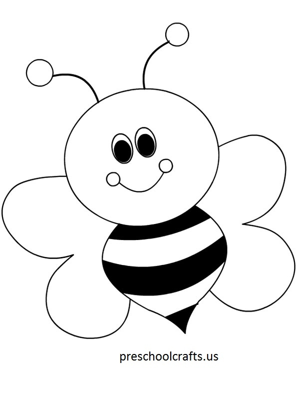 bee coloring pages - bee coloring pages 2