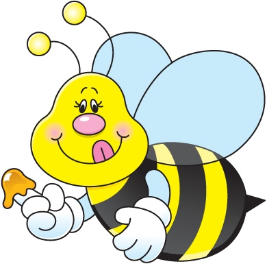 bee coloring pages - carson dellosa bee clipart