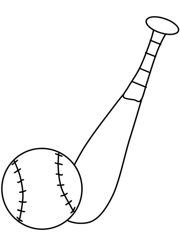 beehive coloring page - image of baseball bat