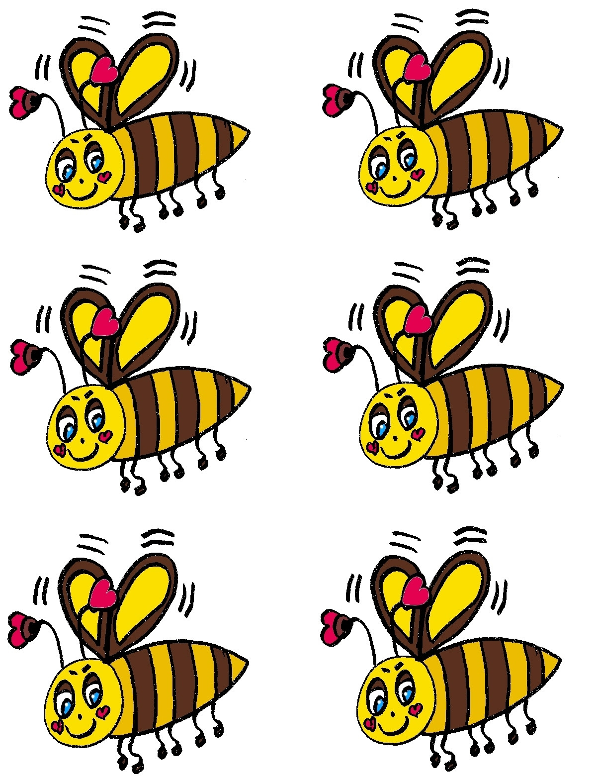 beehive coloring page - pics of cartoon bees