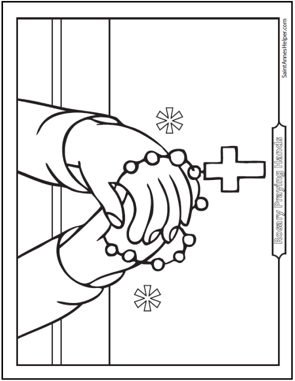 being thankful coloring pages - rosary coloring pages