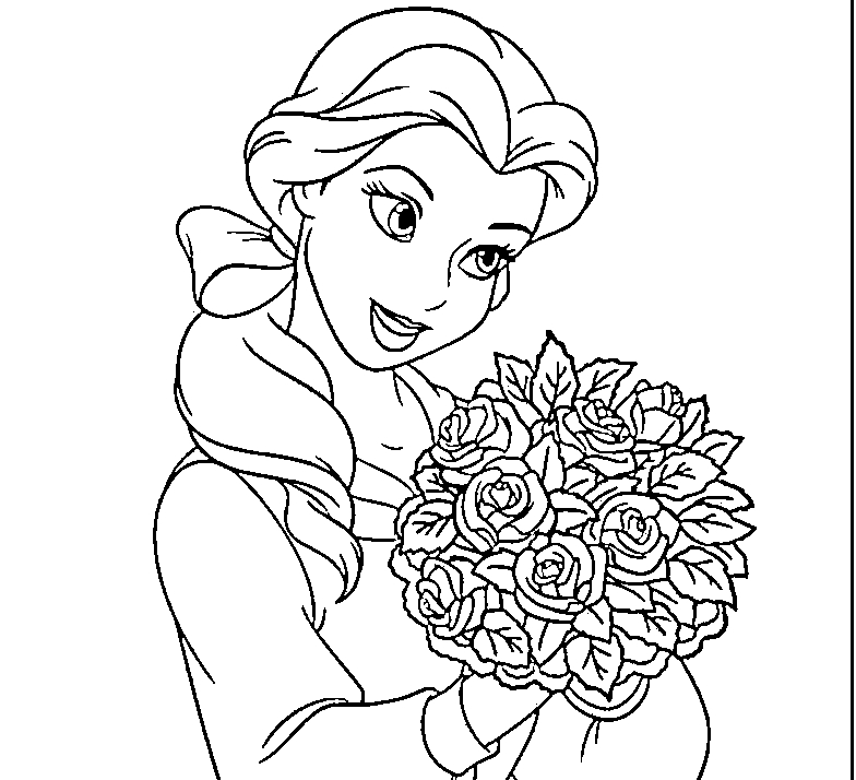 bell coloring pages - disney princess belle coloring pages to
