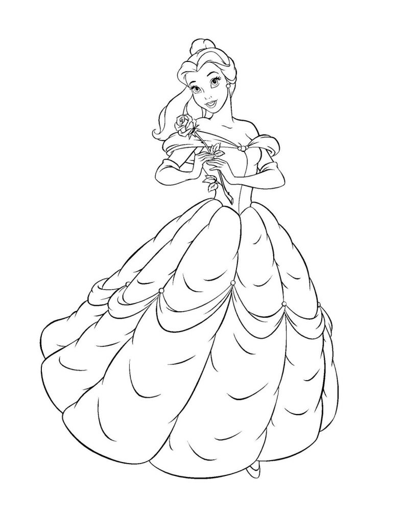 Belle Coloring Pages - Free Printable Belle Coloring Pages for Kids