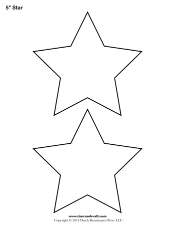 Ben 10 Coloring Pages - Star Template 5 Inch Tim S Printables