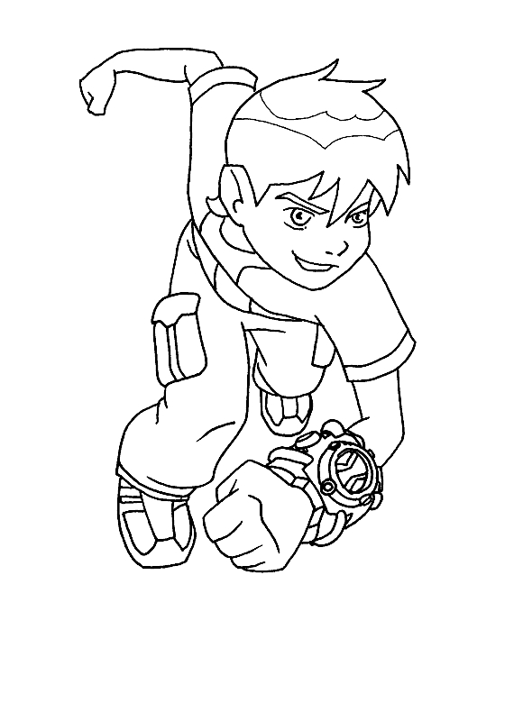 ben ten coloring pages - ben 10 coloring pages