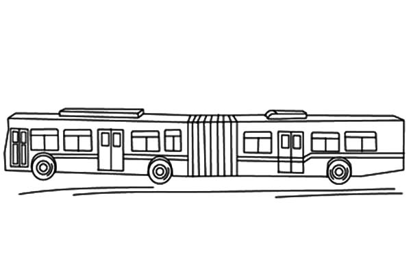 bendy coloring pages - city bus
