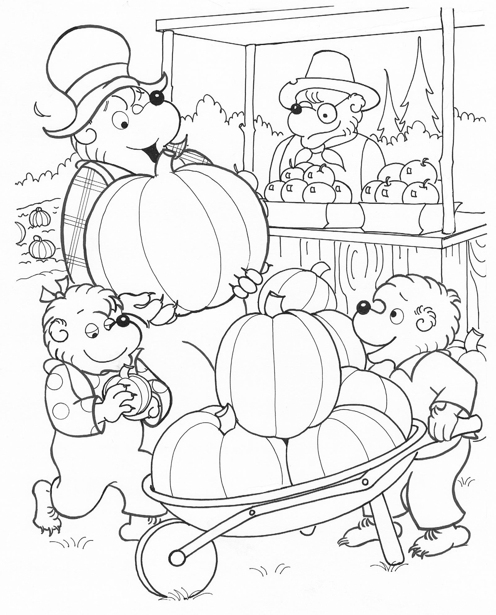 berenstain bears coloring pages - berenstain bear coloring page