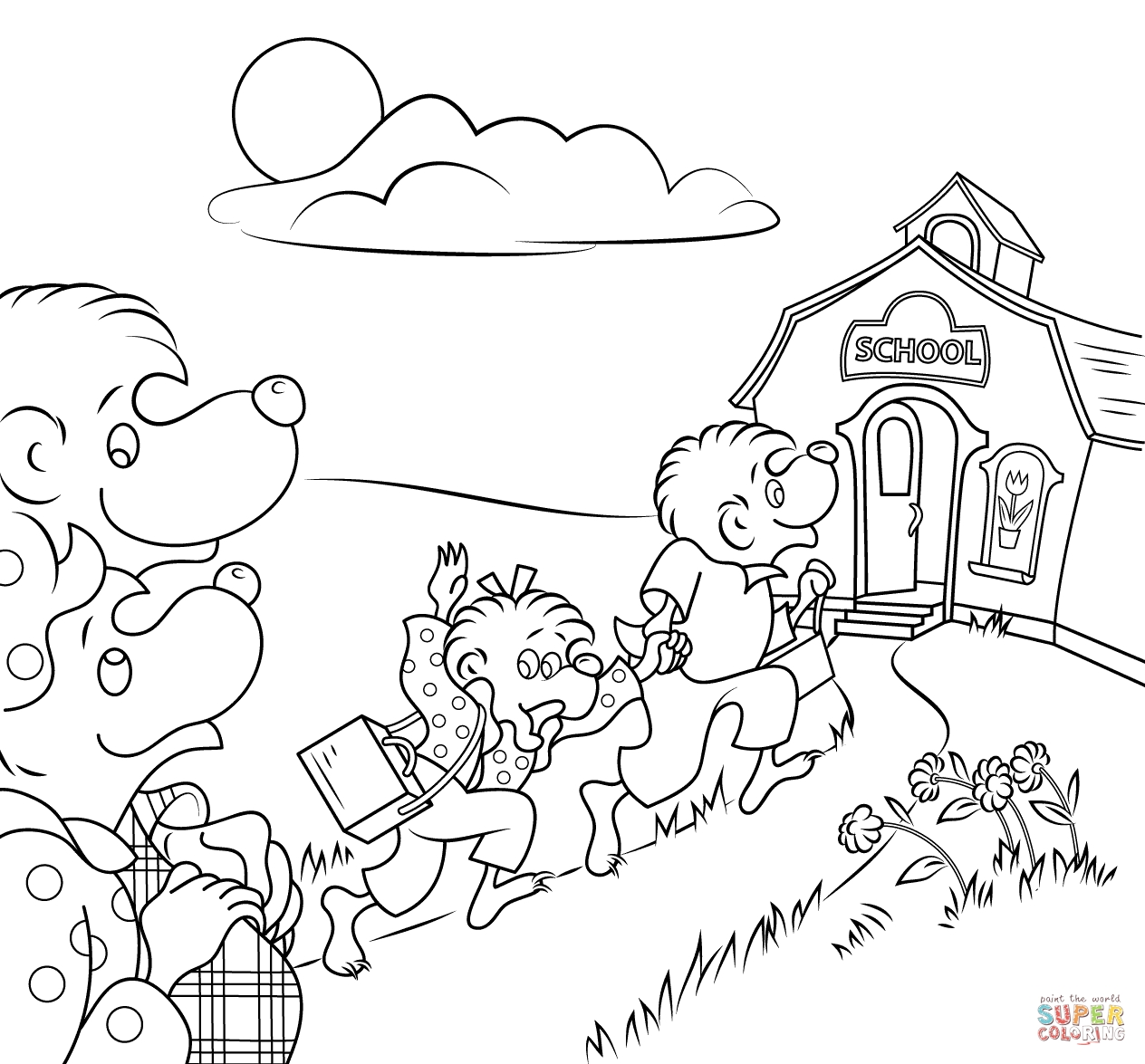 berenstain bears coloring pages - berenstain bears coloring face sketch templates