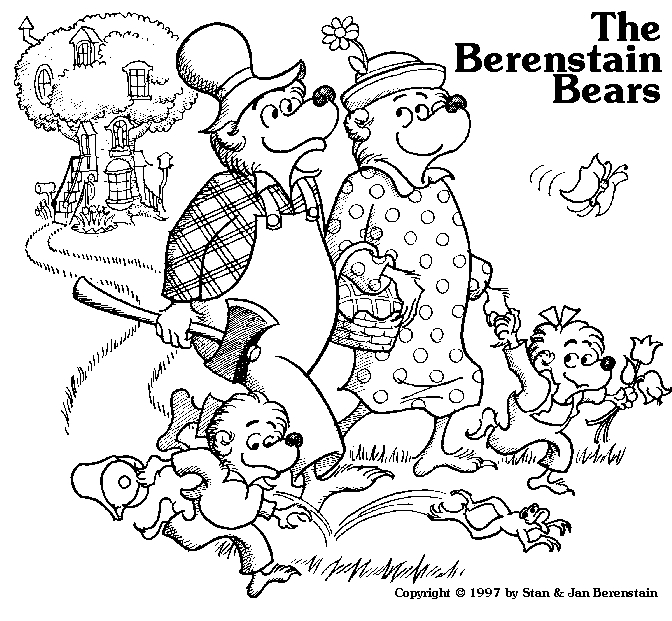 Berenstain Bears Coloring Pages - Berenstain Bears Coloring Pages Coloringpagesabc