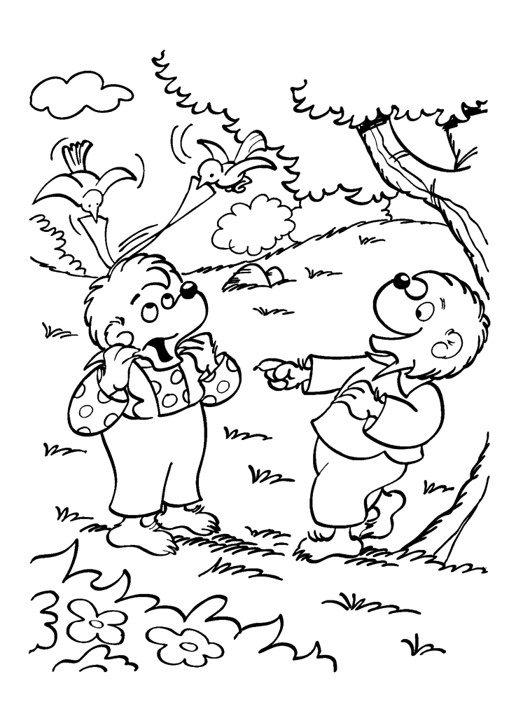 berenstain bears coloring pages - berenstain bears coloring pages regarding invigorate in coloring image