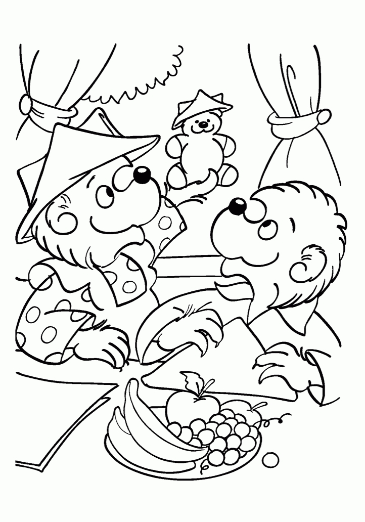 berenstain bears coloring pages - berenstain bears halloween coloring pages