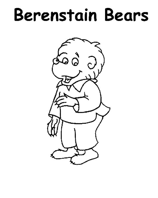 berenstain bears coloring pages - brother berenstain bear coloring pages