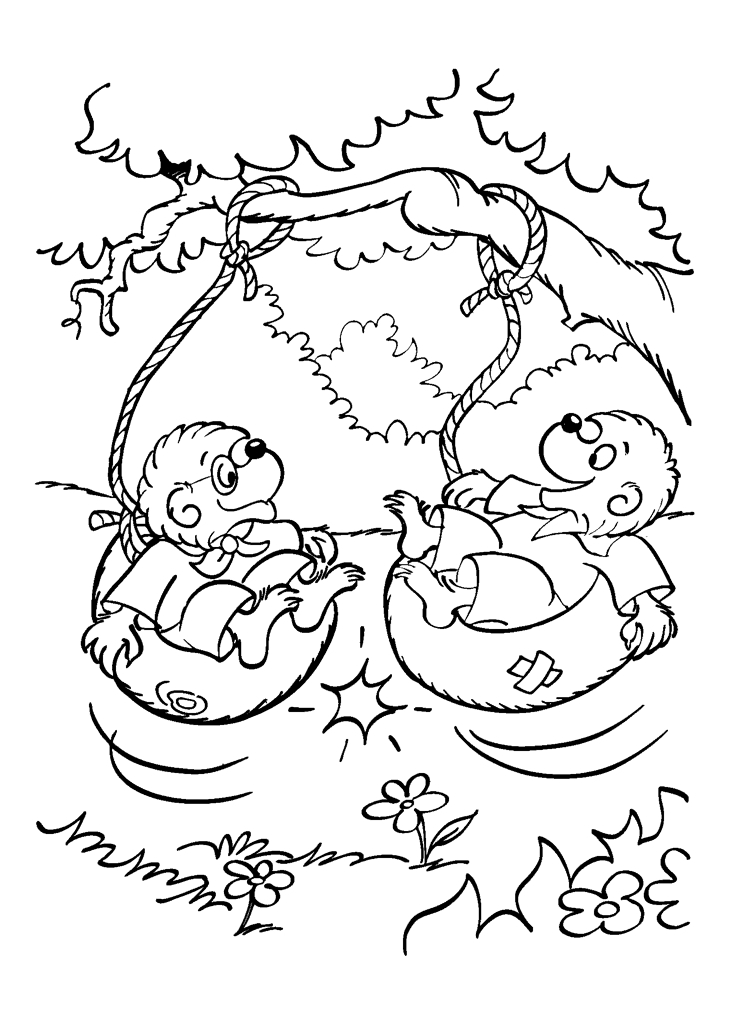 berenstain bears coloring pages - the berenstain bears coloring pages