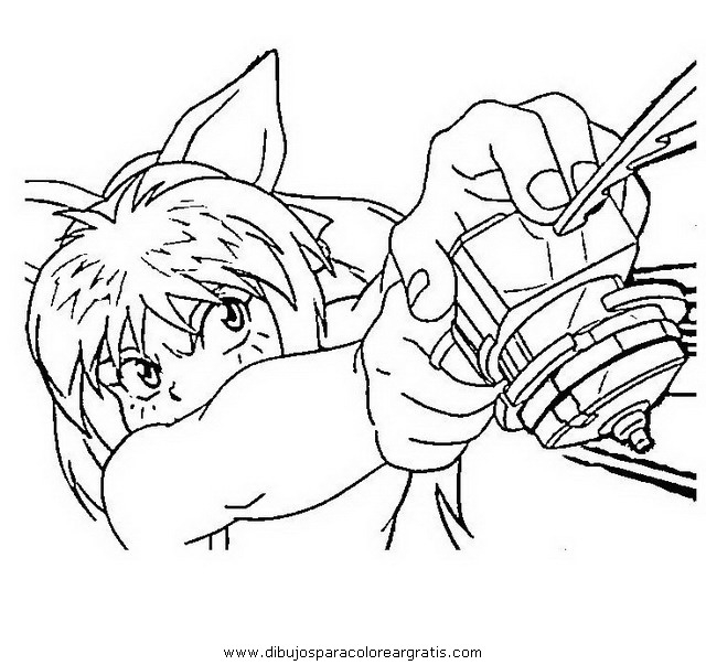 Beyblade Coloring Pages - Dibujos Beyblade 01