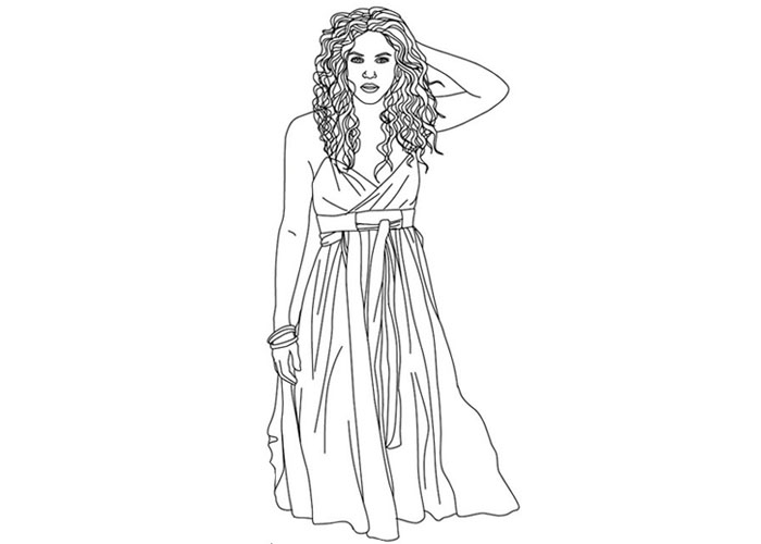 Beyonce Coloring Pages - Shakira Coloring Pages