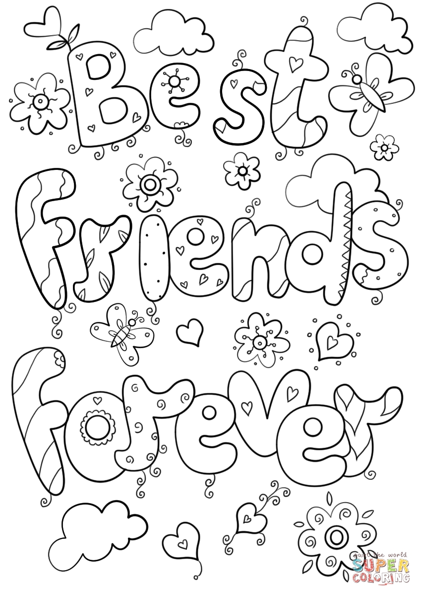 bff coloring pages - bff award coloring pages sketch templates