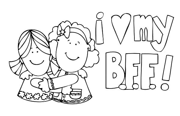 bff coloring pages - bff coloring pages sketch templates