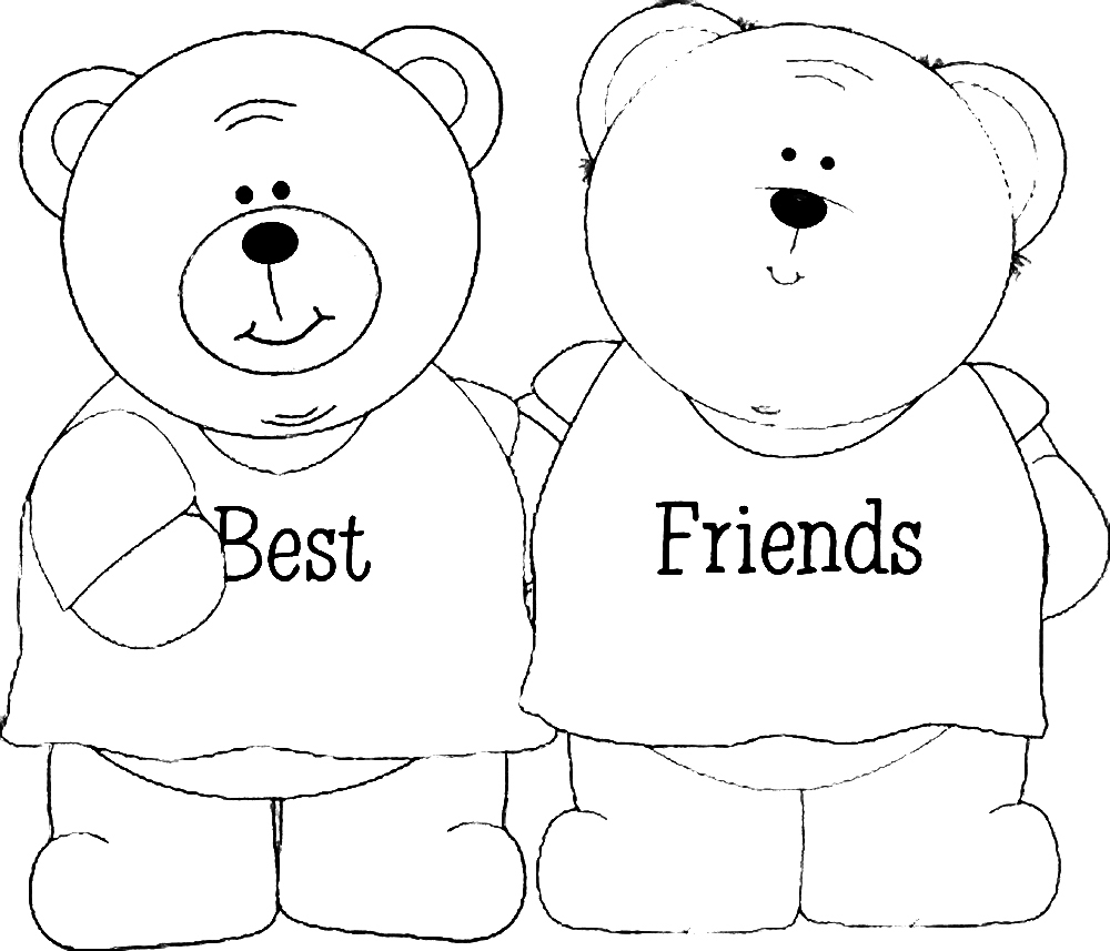 bff coloring pages - coloring sheets that say bff sketch templates