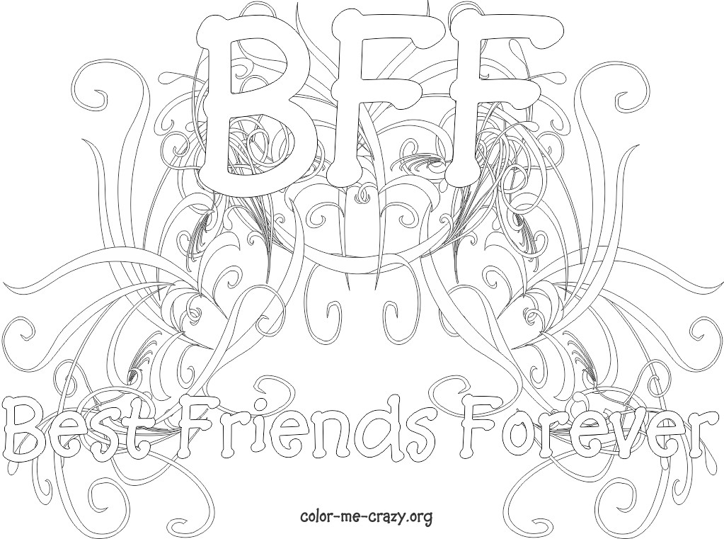 bff coloring pages - new bff coloring pages