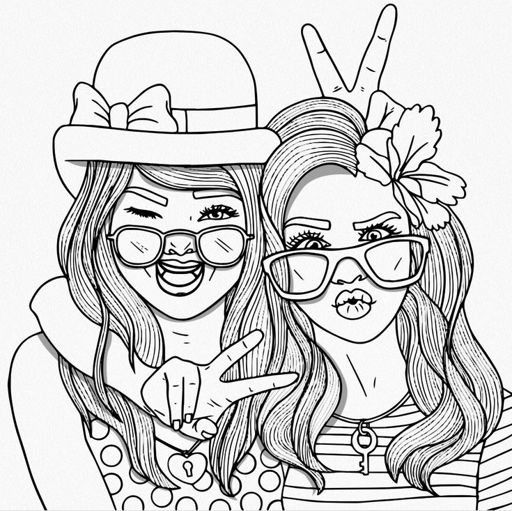 bff coloring pages - hard coloring pages with bff sketch templates