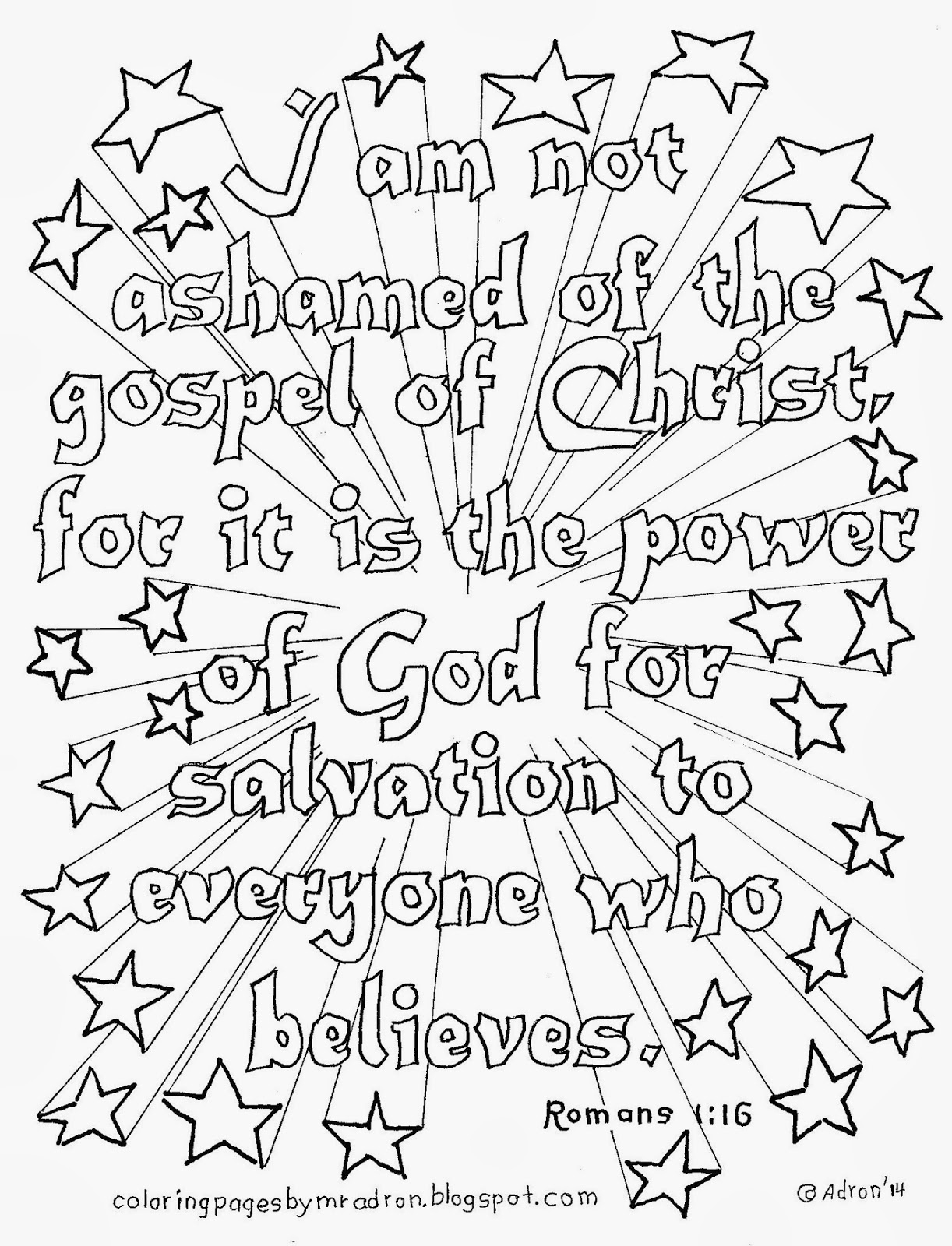 bible coloring pages for adults - i am not ashamed of gospel coloring