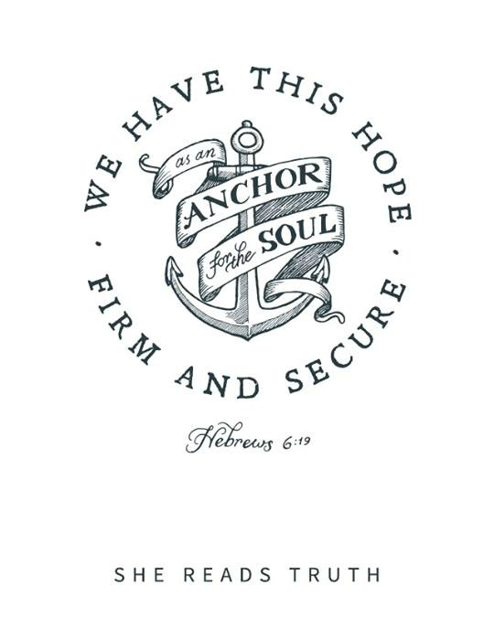 bible verse coloring pages - hope anchor